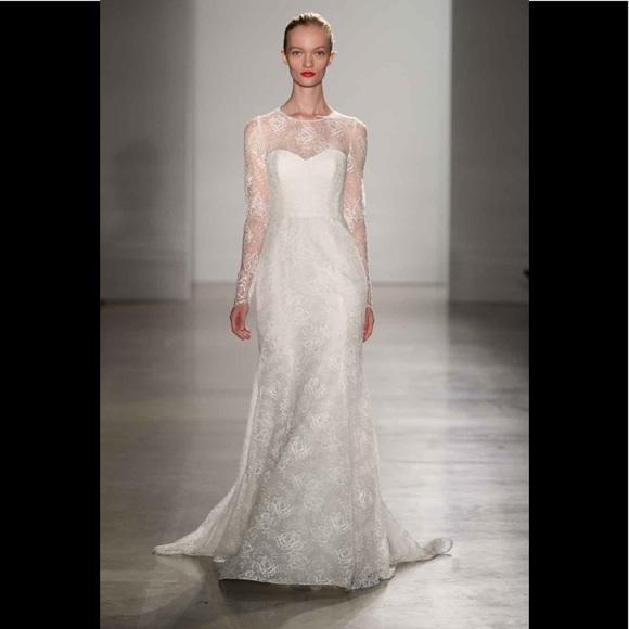 Amsale Dresses | Tegan Long Sleeve Lace Wedding Gown | Poshmark